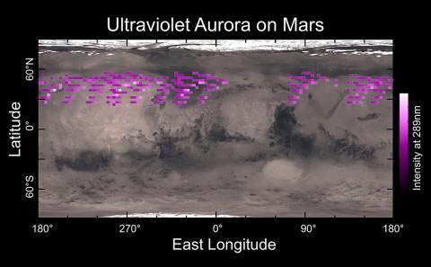 MAVEN image of Mars aurora