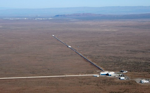 LIGO arms aerial view
